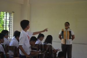 English lesson at Ninoy Aquino Technical High School.