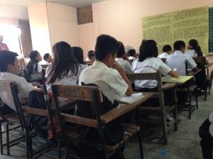 Typical public school desks.