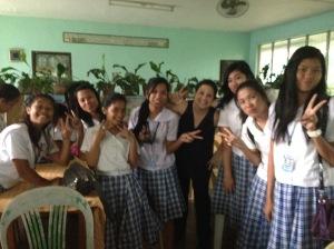 Intrepid journalism students (with their trepid teacher)