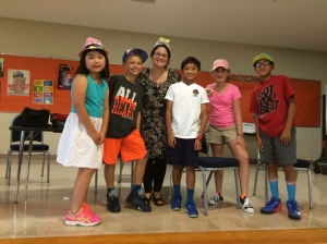 Sixth grade students and I on Hat Day.