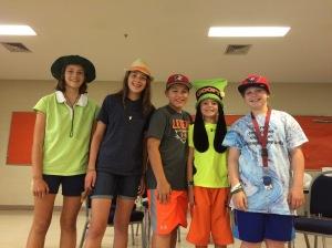 Seventh grade hat day participants